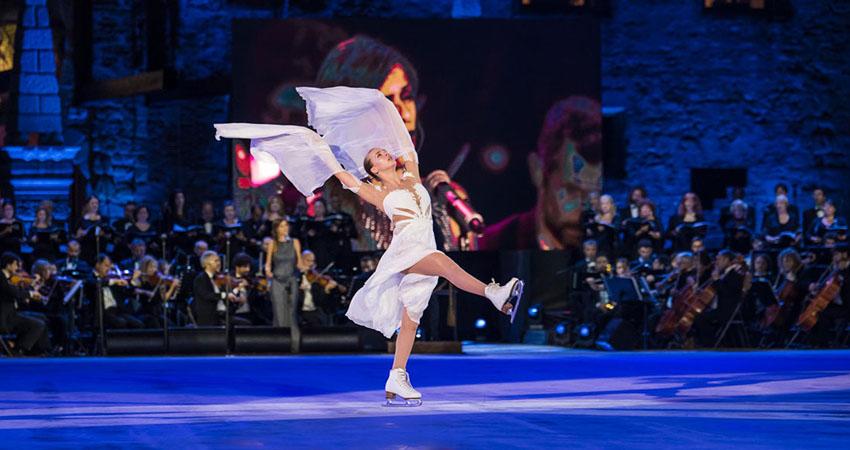 Opera on Ice, le stelle del pattinaggio artistico si esibiscono al Foro italico di Roma